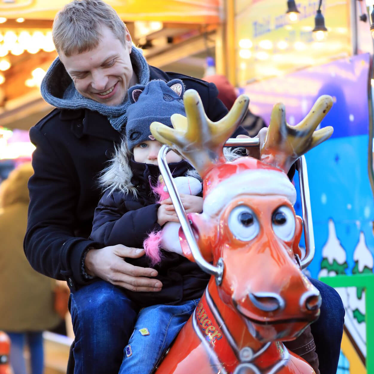 Family fun on our new Reindeer Ride!